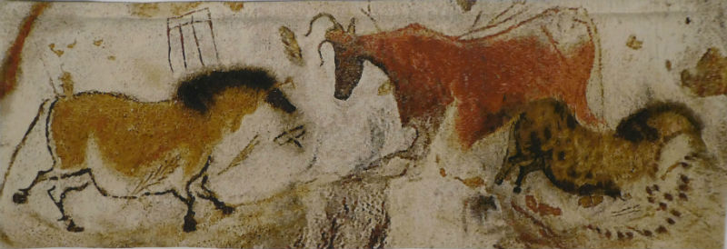 Lascaux, smaller tapestry - ancient art tapestries - cave paintings