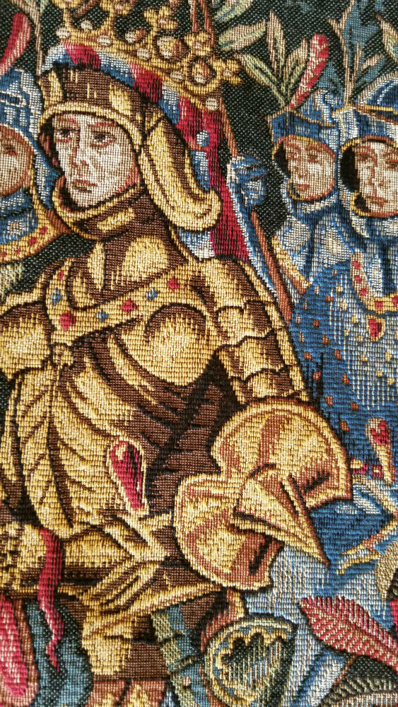 Le Roi tapestry detail close-up