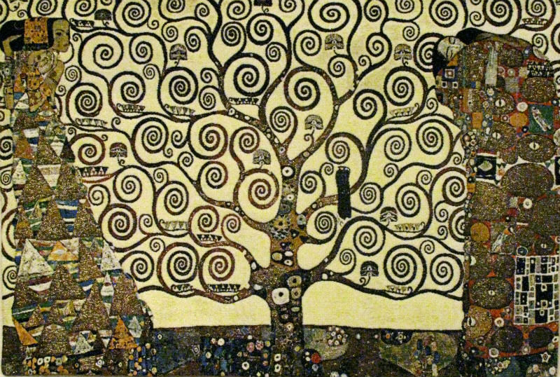Lebensbaum tapestry - Gustav Klimt Tree of Life tapestries