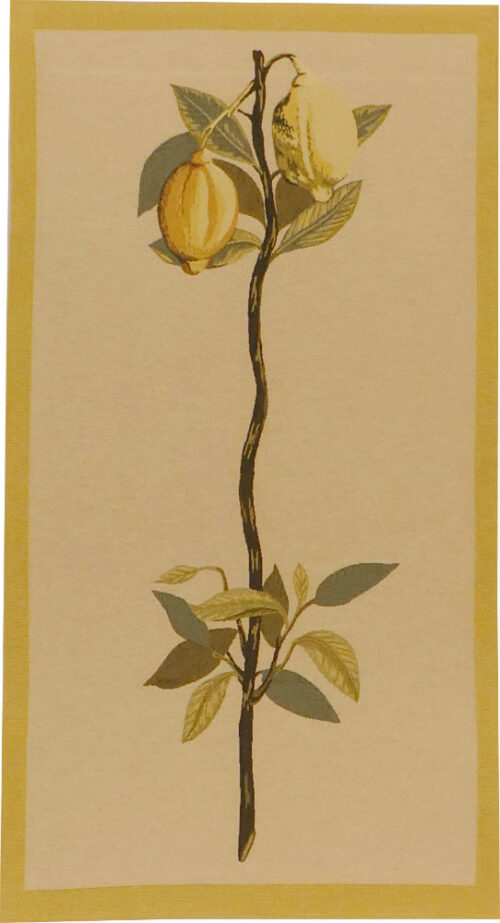 Lemon tapestry wallhanging - botanical tapestries - Redoute art