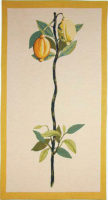 Lemon tapestry wallhanging - botanical tapestries - Redoute art