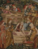Pressing the Grapes tapestry - Cluny Museum tapestries
