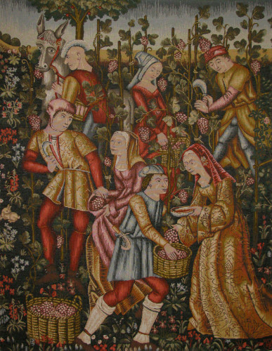 Grapes Harvest tapestry - Musée National du Moyen Age