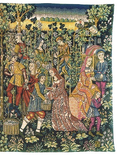 Vintage - the Grapes Harvest wall tapestry