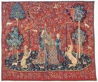 Hearing tapestry - Lady with the Unicorn tapestries