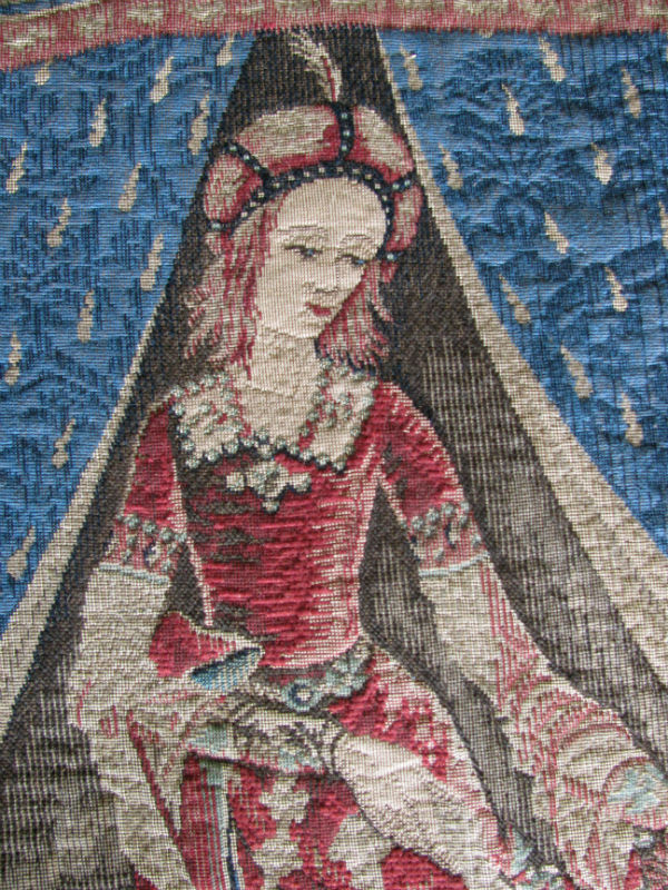 Detail of the A Mon Seul Desire tapestry showing the lady