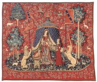 A Mon Seul Desir wall tapestry - Lady with the Unicorn
