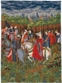 May tapestry Nobles Riding - Les Tres Riches Heures