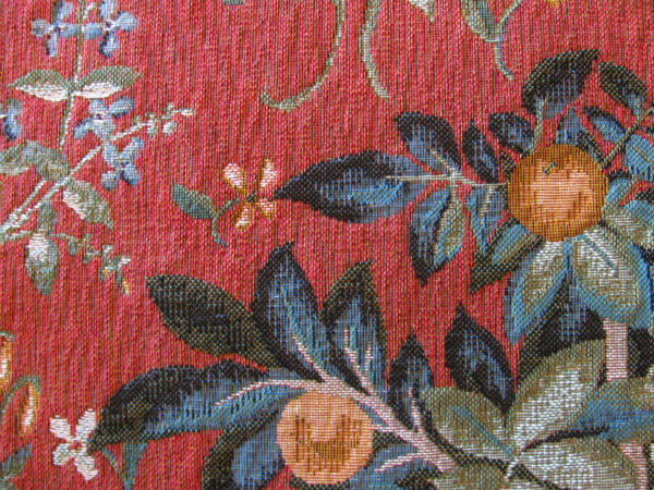 Lady and the Unicorn tapestries - orange tree tapestry detail