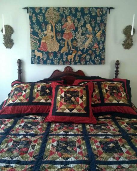 Medieval mille fleurs tapestries