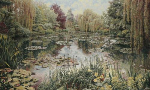 Monet's Garden tapestry 1 no border - Belgian wall tapestries