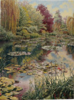 Monet's Garden tapestry 2 unbordered - Claude Monet tapestries
