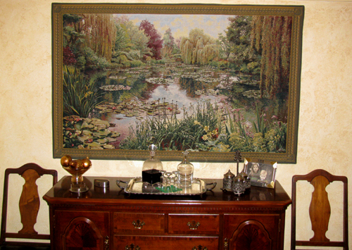 Monet's Garden tapestry 1 - Belgian wall tapestries