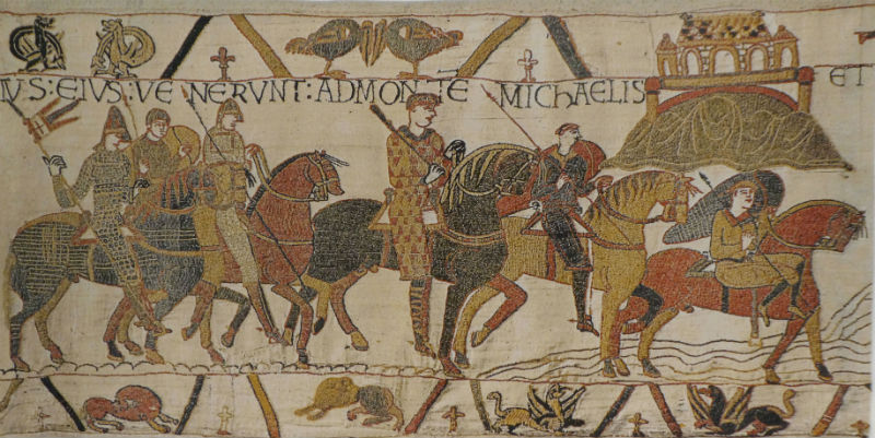 The Bayeux Tapestry - Mont St. Michel scene