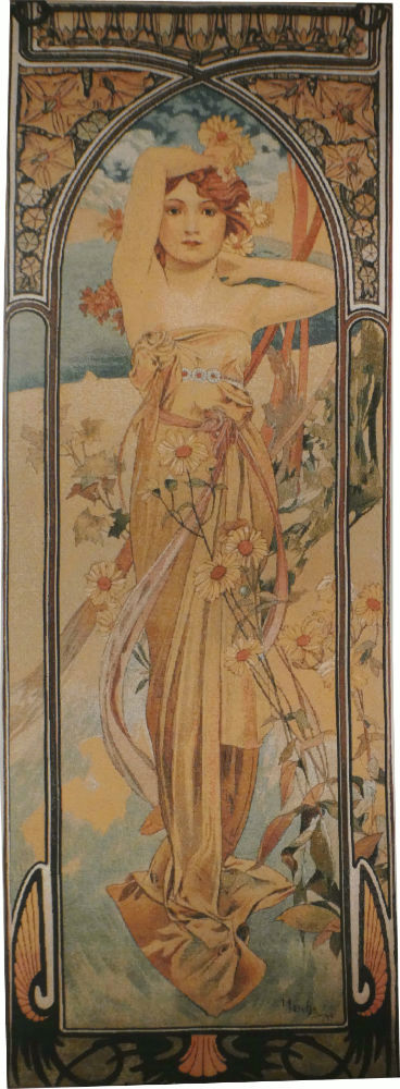 Mucha Brightness of Day tapestry - Times of the Day tapestries
