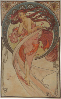 Alphonse Mucha Dance tapestry - The Arts tapestries