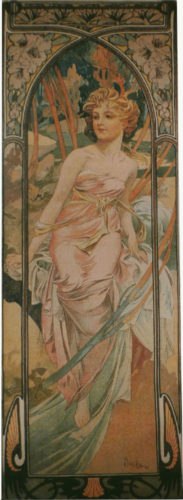 Mucha Morning Awakening tapestry - Art Nouveau tapestries