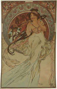 Alphonse Mucha Music tapestry - The Arts tapestries