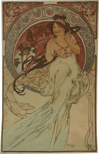Alphonse Mucha Music tapestry - The Arts tapestries