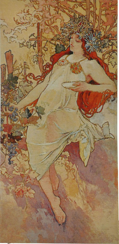 Mucha Tapestry - Autumn - Alphonse Mucha seasons