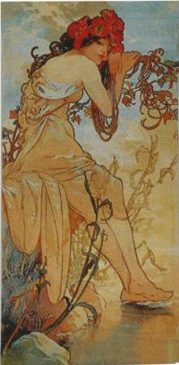 Mucha Tapestry - Summer - The Seasons tapestries