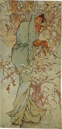 Mucha Tapestry - Winter - Alphonse Mucha tapestries