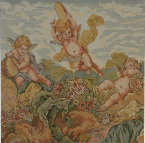 Musical Cherubs tapestry - Italian wallhanging on sale