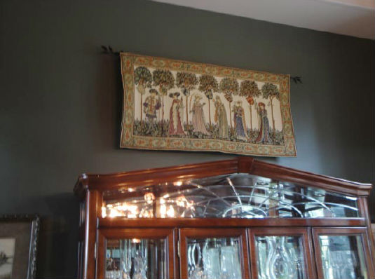 Nine Worthies wall tapestry hanging in a home