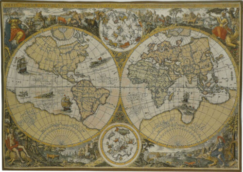 Orbis Terrae map tapestry - world maps wall tapestries