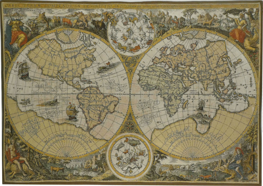 Nautical and maps tapestries world map tapestry wall hangings orbis terrae map tapestry gumiabroncs Image collections