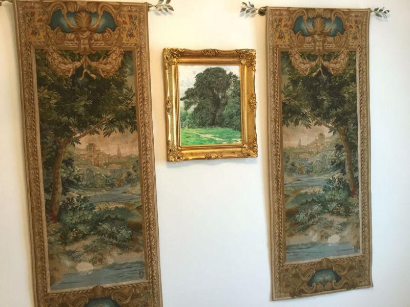 Pair of vertical tapestries