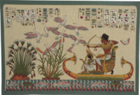 Papyrus tapestry - Egyptian tapestries - duck hunting