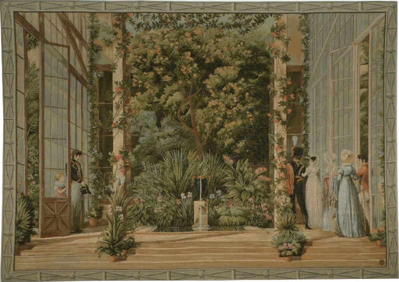 Parisian Conservatory tapestry - The Big Greenhouse wall-hanging