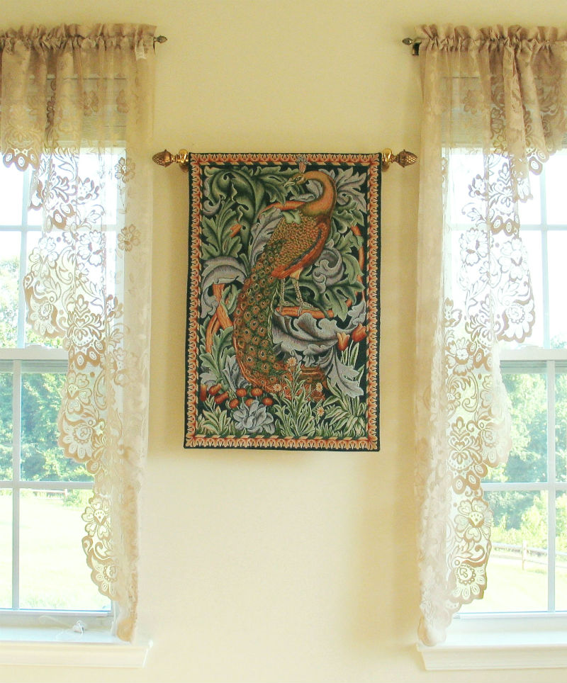 Philip Webb Peacock tapestry - The Forest wall hanging