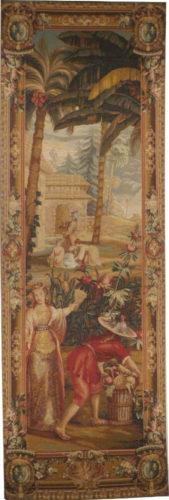 Pineapple Harvest - left tapestry La Recolte des Ananas