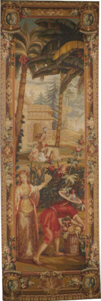 Pineapple Harvest - left tapestry La Recolte des Ananas