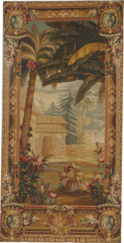 Pineapple Harvest, left detail - matching tapestries