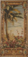 Pineapple Harvest - right detail tapestries matching pair