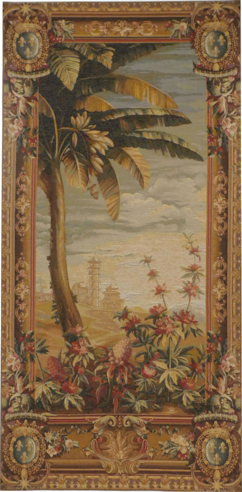 Pineapple Harvest - matching pair of French tapestries