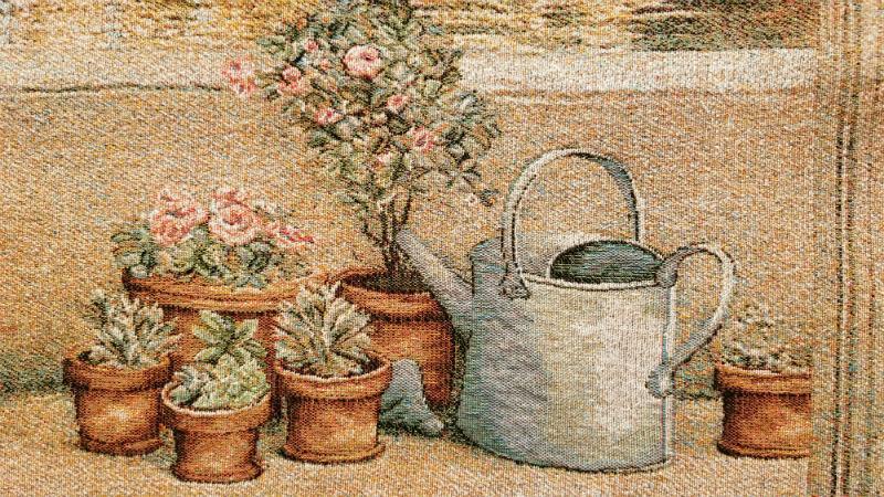 Provence Garden tapestry detail