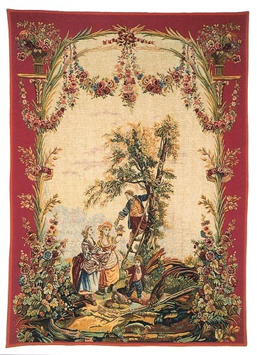 The Cherry Harvest tapestry - Beauvais wall tapestries