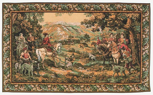 Hunt with the Hounds tapestry - hunting wall hanging