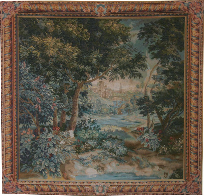 18th Century Verdure French Woodland Wall Tapestry