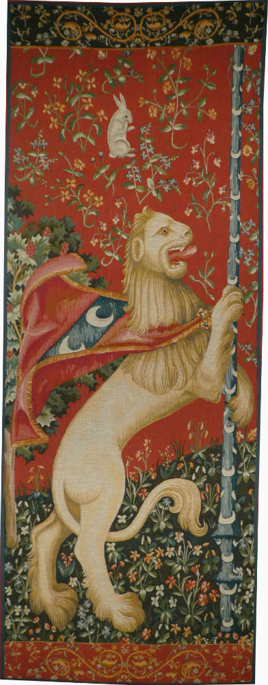 Rampant Lion tapestry - Lady with the Unicorn tapestries