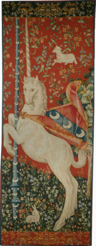Rampant Unicorn tapestry - Cluny Museum French tapestries