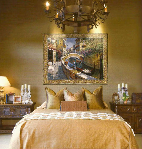Robert Pejman art wall tapestries - Venice tapestry