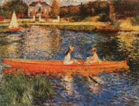 Seine at Asnieres tapestry wall-hanging - Renoir tapestries