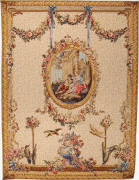 Serenade Rouge tapestry - Francois Boucher wall tapestries