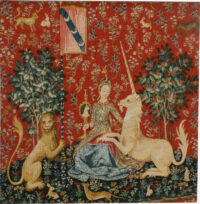 Sight tapestry - Lady with the Unicorn wall tapestries