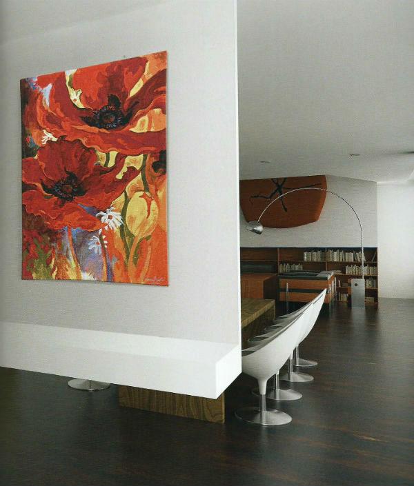 Simon Bull watercolour art tapestries - tapestry woven in Belgium